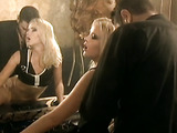 blonde whore in glasses gets slapped around before some hard anal