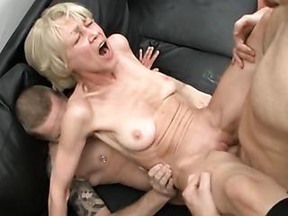 old skinny blonde granny