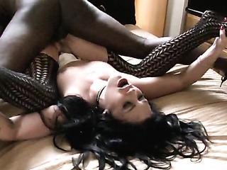 horny brunette spreds her
