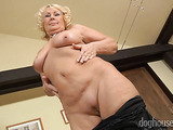 Old moms remove their sexy lingeries and play with their fat titties