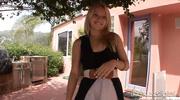 blonde slut black dress