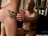 She have a tattoo of an angel on her thigh, but she is such a devil when it coms to riding a big cock