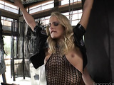alluring blonde vixen holds tight while you fuck her ass
