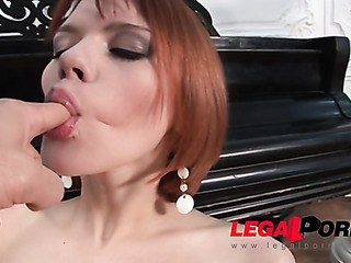 redhead with small tits