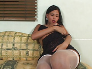 brunette stockings anally fucked