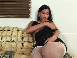 brunette stockings anally fucked