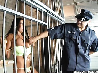 prison guard fucked busty