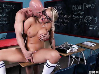 pigtailed schoolgirl sucking the