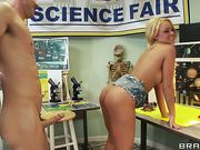 long-legged young blonde and