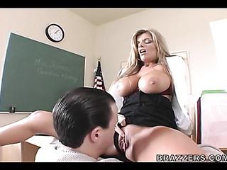 leggy blonde teacher black