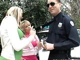 Short skirt girlfriends fucking a hung cop