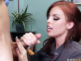 Ass worship gets redheaded business lady really horny