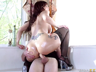 oiled mistress fucked her