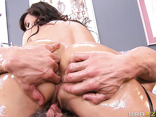 nurse milf brunette gets