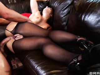 schoolgirl with pigtails seducing