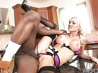 big tits blonde black