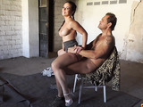 sexy latina slut double teamed by two thugs in an abandoned place