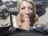 mature blonde slut in leopard prints fucked hard at the hotel