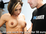 Slut gets picked up at the gym and fucked in the locker room.