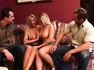 two blonde milfs with