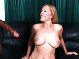 Blonde milf has big boobs, spreads her legs to display gorgeous pink pussy lips