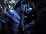 horny alien couple enjoys an intergalactic sex in the forest