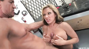 horny blonde slut gets