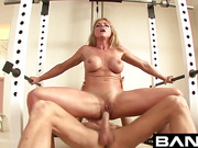 sexy blonde whore with