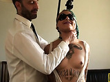 Blonde slut with nice body gets boned and her ass spanked by her fella