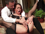 Redhead minx with nice body gets spanked and slammed by her fella