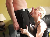 Submissive blonde chick gets her tight pussy screwed hard by a horny gent