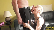 submissive blonde chick gets