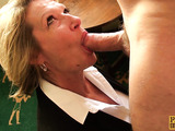 Hot blonde minx gets her tight pussy fucked hard and her ass spanked