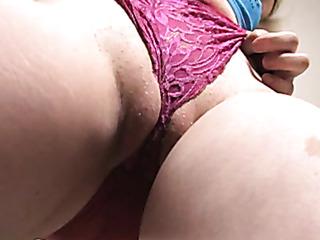pink panties wedged her
