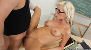 awesome skinny blonde with