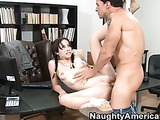 Cute brunette with braided pigtails wearing yellow passes her subject and thanks teacher by blowing his thick cock