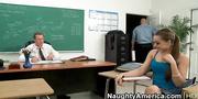 busty latina student innocently