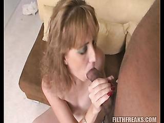 pierced tongue brunette with