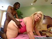 blonde bbw pink top