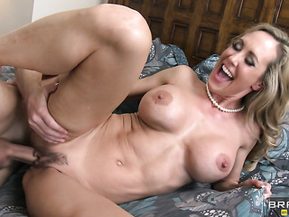 fake-tit milf blonde nailed