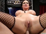 Young busty ladies hardly impaled on the show