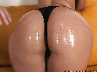 mom with oiled round