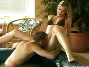 seductive nose pierced blonde