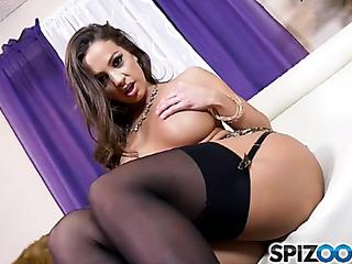 big tits brunette black