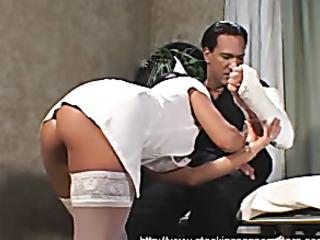 dirty nurse with big