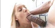 lusty slut sucks and