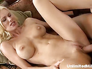 hot blonde gets orgasm
