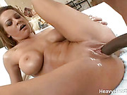 busty brunette gets her
