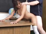 slender asian student gets