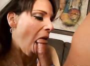 alluring brunette mature sucks